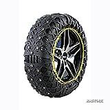 Mastore タイヤチェーン 非金属 軽自動車 スノーチェーン 車チェーン 簡単装着 ジャッキアップ不要 QE03
