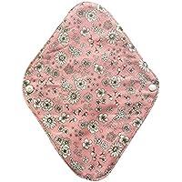華布のオーガニックコットンの布ナプキンホルダー (約17×約23×約0.3cm) ボタニカルピンク