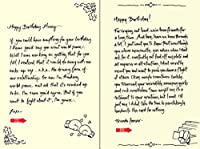 Quiplip Handwritten Yours Truly Birthday Cards 6-Pack (YT09106PCK) [並行輸入品]