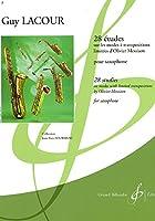 ラクール : 28の練習曲 メシアンの移調の限られた旋法に基づく (サクソフォン教則本) ビヨドー出版