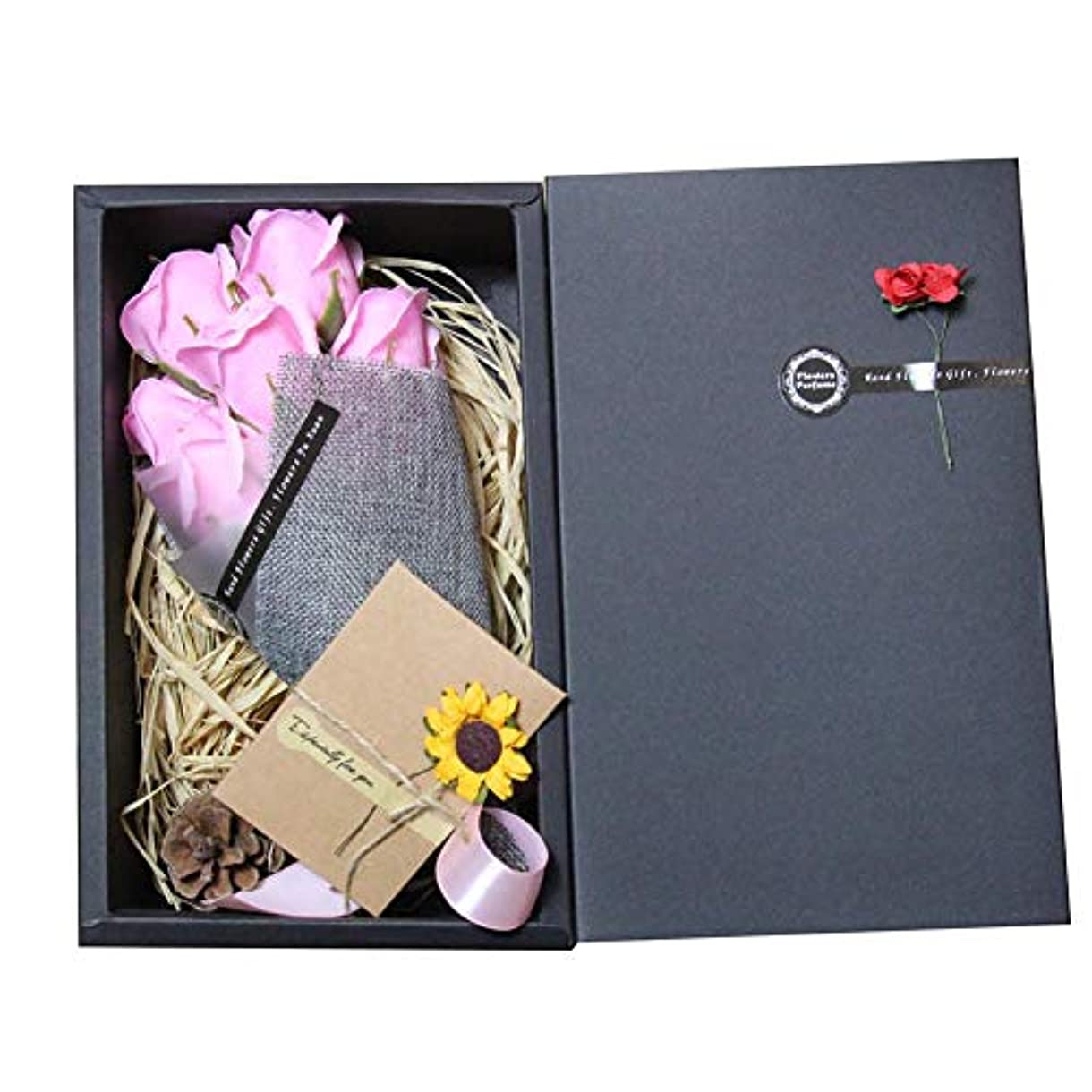 石鹸 花の香りのバスソープ バラの花びら石鹸状 栄養と潤いのある肌 女の子のためのお母さん誕生日
