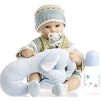 SanyDoll Rebornベビー人形ソフトSiliconeビニール18インチ45 cm Lovely Lifelikeキュート赤ちゃん男の子女の子おもちゃLovelyウールClothes人形