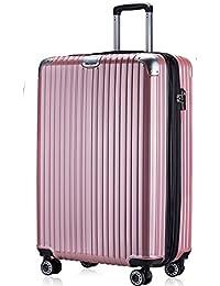 TTOvaligeria[TTOバリジェリア] スーツケース 軽量 静音 TSAロック搭載 Wファスナータイプ 大型 容量最大20%拡張 機内持ち込み (Sサイズ)