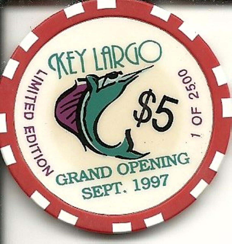 $ 5 Key Largo Limited Vintage Rareラスベガスカジノチップ