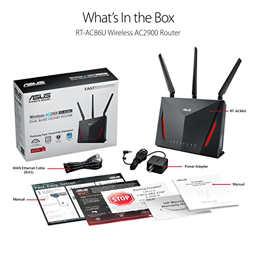 『ASUS AC2900 WiFi Dual-band Gigabit Wireless Router with 1.8GHz Dual-core Processor and AiProtection Network Security Powered by Trend Micro, AiMesh Whole Home WiFi System Compatible (RT-AC86U) 141[並行輸入]』の6枚目の画像