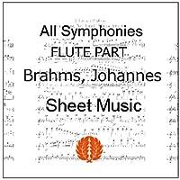 楽譜 pdf ブラームス 交響曲 全曲 全楽章 フルート (ピッコロ) パート譜セット