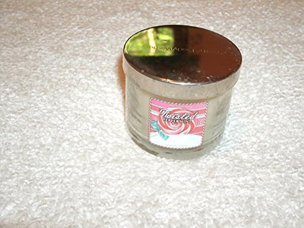 故障原始的なナットBath & Body Works Twisted PeppermintクリスマスCandle Retired香り1.3 Oz
