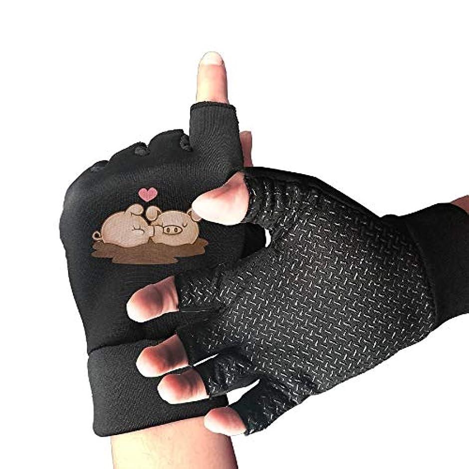 ハンディキャップ薬局大使Cycling Gloves Lovely Pig Men's/Women's Mountain Bike Gloves Half Finger Anti-Slip Motorcycle Gloves