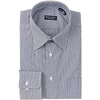 (ザ・スーツカンパニー) レギュラーカラードレスシャツ ストライプ 〔EC・CLASSIC SLIM-FIT〕 ネイビー×ホワイト