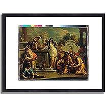 Ricci, Sebastiano,1659-1734 「ヘスティアへの生贄」 インテリア アート 絵画 プリント 額装作品 フレーム:木製(黒) サイズ:M (306mm X 397mm)