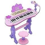 GLJJQMY 子供のためのピアノキー初心者多機能キーボードの紹介男の子と女の子の音楽玩具 キッズキーボードピアノ (Color : Pink)