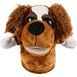 PQZATX Cute Plush Velour Animals Hand Puppets Chic Designs Kid Learning Aid Toy (Dog)