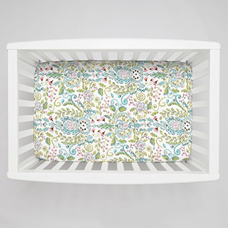 Carousel Designs Love Bird Damask Mini Crib Sheet 5-Inch-6-Inch Depth by Carousel Designs