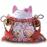 (ラシューバー キュウ) Lasuiveur 開運 招福 招き猫 風水で開運 陶器の置物 まる福 邪気払い お守り 風水グッズ
