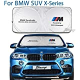 for BMW Sunshade Windshield Visor Cover Car Window Sun Shade UV Protect Car Window Film for E28 E31 E32 E34 E38 E39 E53 E60 E61 E63-67 E70 E71 E72 E83 F01-04 F10-13 X1 X2 X3 X4 X5 X6 M-Series etc