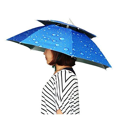 zmayastar レジャーハット 折りたたみ傘帽子 かぶる傘 両手が自由 釣りの際の日差しカット スポーツ 観戦キャンプ 屋外作業 つり用傘 屋外イベント すげ笠 釣り帽子 釣傘 SH-192