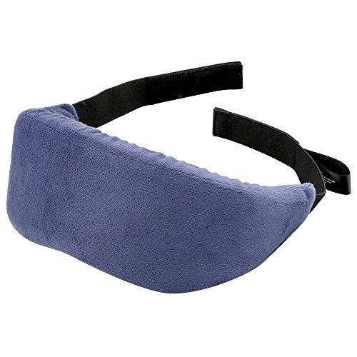 PLEMO 立体型睡眠アイマスク 超ソフト 優れる通気性 フィット感 快眠グッズ 男女兼用 睡眠補助 睡眠 旅行に最適 (ブルー) EM-482
