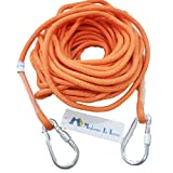 (モデルノ ラ テール) Moderno La Terre 選べる タイプ オリジナル ロープ カラビナ 二個 付き SN-TR (クロームオレンジ 18m)