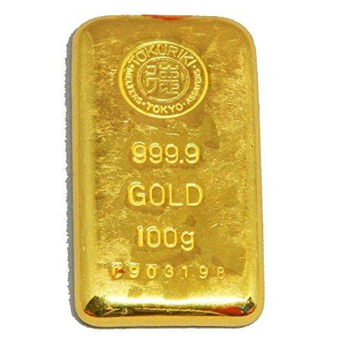 徳力 ゴールドバー 100g インゴット 日本製100gの純金 24金 Gold Bar K24 tokuriki