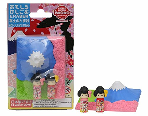 イワコー おもしろ消しゴム 富士山と舞妓 ER-BRI051 ブリスターパック46