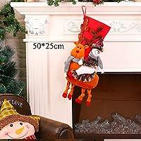 HASUKUN デコレーションサンタ雪だるまギフトホルダー収納袋ペンダントクリスマスツリー家の装飾新年ストッキング靴下飾りクリスマス装飾