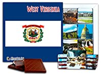 "DA CHOCOLATE キャンディ スーベニア ""西部バージニア "" WEST VIRGINIA チョコレートセット 5×5一箱 (Flag)"