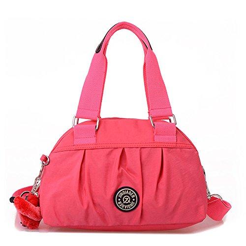 ENVOY(エンヴォイ) レディース 3way ショルダーバッグ 斜めがけ 肩掛け 帆布鞄 ハンドバッグ かわいい 通学 通勤 カジュアル Watermelon Red