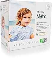 NATY Eco-Sensitive Wipes Triple Pack, Unscented, 168 Count by Naty