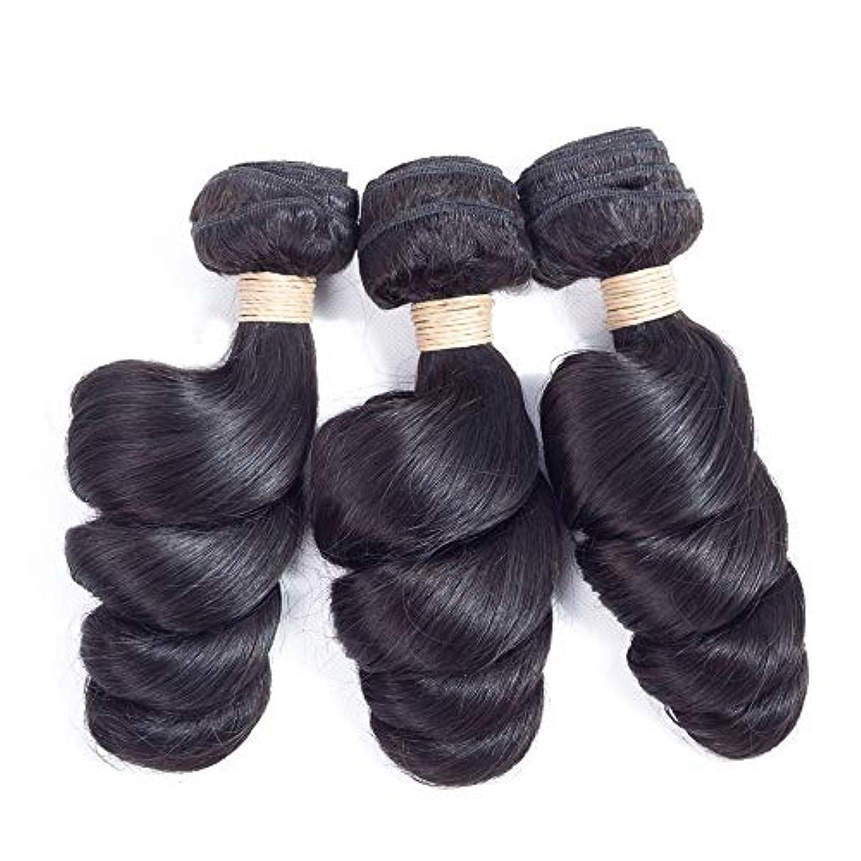 キャプテンブライスキーシールドMayalina ブラジルのバージンルースウェーブヘアバンドル100%未処理の人間の髪の毛#1Bナチュラルブラックカラー(1バンドル、100g)女性用合成かつらレースかつらロールプレイングウィッグ (色 : 黒, サイズ...