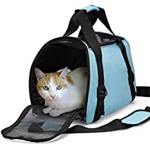 Cat Travel Carrier Bag,Dotala Comfort Portable Foldable Pet Bag Airline Approved for Small Dogs,Cats and Puppies Small Animal (S, Blue)
