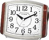 CITIZEN ( シチズン ) 目覚まし 時計 サイレントミグ644 暗所 自動 点灯 茶 (木目仕上) 8RE644-023