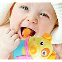 wanrane Cute Kids Roly - Poly Toy環境にやさしい犬Teether幼児用タンブラー建物ブロック教育玩具子供用祭ギフト(ランダムカラー)