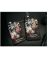 【STUSSY ステューシー】夜光iPhone6S用ケース アイフォン6S iPhone6S PLUSカバー アイフォン6 iPhone6 plusロゴデザイン フリント ブランド ヒップホップドクロ 花柄 フラワー[並行輸入品] (iPhone6/6S, 花柄)