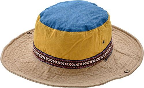 Nakota(ナコタ) 2WAY アクティビティ ハット トレッキングハット サファリハット ツバ広 帽子 アウトドア キャンプ メンズ レディースキッズ 子供用 フェス 登山 <フリーサイズ・イエローベージュ>