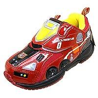 [トミカ] TOMICA ハイパーカー スニーカー 運動靴/ベルクロ/マジックベルト キッズ (16cm, 10570【レッド】)