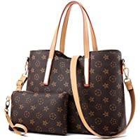 Waterproof Scratch Resistant Synthetic Leather Lady Handbags Set for Women Fashion Tote Bags Casual Daypack