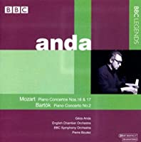 Piano Concertos Nos. 16 & 17 / Piano Cto No. 2 by MOZART / BARTOK (2008-10-18)