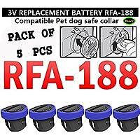 3V Petsafe RFA-188バッテリ互換交換 RFA-67ボタンコイルセル(5パック)