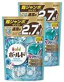 【まとめ買い】 ボールド 洗濯洗剤 液体 ジェルボール ダブルプラチナ プラチナホワイトリーフの香り 詰替用 超ジャンボサイズ 940g (48個入)×2個