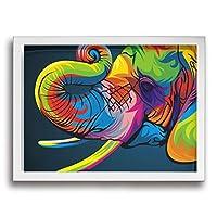 DSM バンクシー ストリート 絵 アートパネル アートフレーム 壁掛け 壁飾り ウォールアート フレーム装飾画 玄関 廊下 おしゃれ White 30*40cm