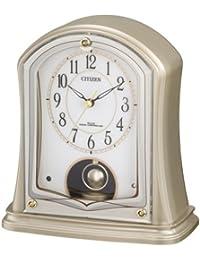 シチズン 置き時計 電波 アナログ パルドリームR693 振り子 付 金色 CITIZEN 4RY693-018