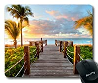 Smooffly Gaming Mouse Pad Custom,Track Palm Trees Beach Sea Ocean Personality Desings Gaming Mouse Pad [並行輸入品]