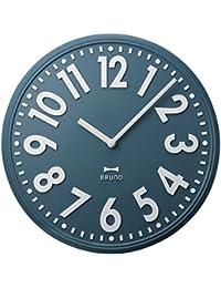 BRUNO エンボスウォールクロック BRUNO ブルーノ エンボスウォールクロック BCW013 掛け時計 掛時計 壁掛け時計 壁掛時計 おしゃれ (限定カラー ブルーノブルー)