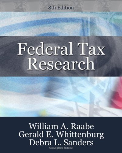 Download Federal Tax Research 0324659652