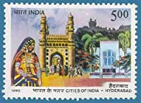 Cities of India - Hyderabad City, Hyderabad, Charminar Gate, Woman, Costume Indian Stamp