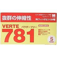 ミドリ安全 ニトリルディスポ手袋 ベルテ781N 粉なし 白 100枚入(極薄・滑り止め)