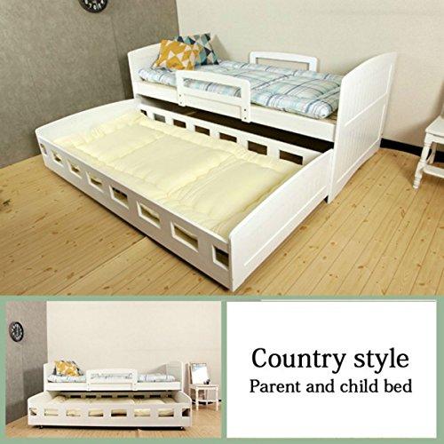 親子ベッド 2段 ホワイト 親子ベット 収納式 ツインベッドフレーム スライドベッド シングル 二段ベッド すのこベッド