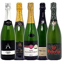 本格シャンパン製法の泡5本セット((W0P515SE))(750mlx5本ワインセット)
