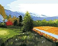 LOVEBABY油彩画の大人キッズペイントby Numberキットデジタル油絵グリーンLand 16x 20インチ