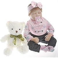 SanyDoll Rebornベビー人形ソフトSilicone 22インチ55 cm磁気Lovely Lifelike Cute Lovely Princess Baby